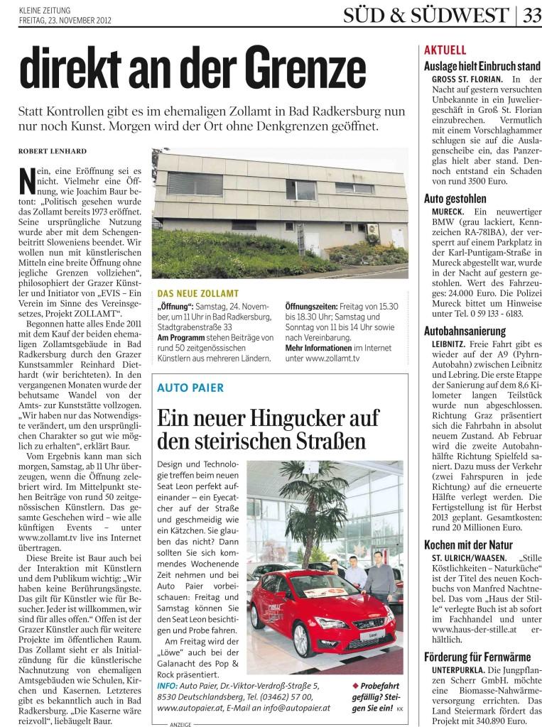 01 KLEINEZEITUNG SUEDSTEIER 20121123 Prod-Nr 163838   Seite 32